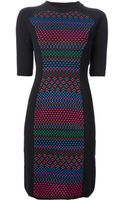 M Missoni Patterned Knit Sweater Dress - Lyst