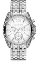 Michael Kors Stainless Steel Crystalaccented Bracelet Watch - Lyst