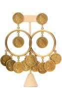 Theodora & Callum Brass St Tropez Coin Clip On Earring - Lyst