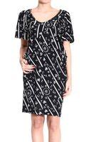Balenciaga Dress Shortsleeve Printed Jersey - Lyst