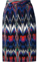 M Missoni Kaleidoscopic Printed Pencil Skirt - Lyst