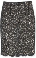 Michael Kors Collection Floral Lace Pencil Skirt - Lyst