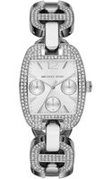 Michael Kors Silver Color Stainless Steel Emma Chronograph Glitz Watch - Lyst