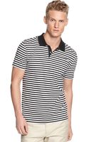 Calvin Klein Short Sleeve Slim Fit Stripe Polo Shirt - Lyst