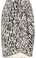 Giambattista Valli Leopard Jacquard and Organza Skirt - Lyst