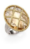 Jude Frances Champagne Citrine 18k Yellow Gold and Sterling Silver Ring - Lyst