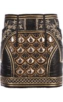 Balmain  Embellished Mini Skirt - Lyst