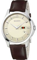 Gucci Gtimeless Collection Stainless Steel and Leather Watch Cream - Lyst