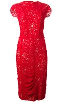 Nina Ricci Embroidered Lace Dress - Lyst