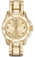 Karl Lagerfeld Watches Goldplated Unisex Watch Gold - Lyst