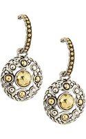 John Hardy Palu Rounddrop Hoop Earrings - Lyst