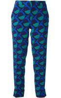 Marc By Marc Jacobs  Printed Cropped Trouser - Lyst