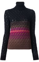 Missoni Funnel Neck Sweater - Lyst