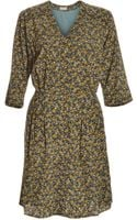 Pyrus Printed Button Through Dress in Posy Blue By - Lyst