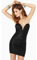 Nasty Gal Helix Dress Black Sequin - Lyst