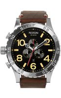 Nixon 5130 Leather - Lyst