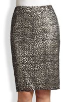 Kay Unger Sequined Lace Skirt - Lyst