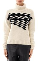 Tibi Chevron Jacquard Knit Sweater - Lyst