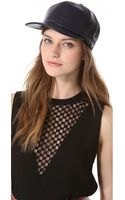 Cast Of Vices Leather Baseball Cap - Lyst