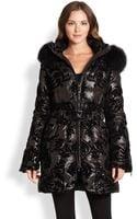 Dawn Levy Fox Fur-trimmed Down Coat - Lyst