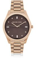 Michael Kors Rose Tone Felicity Three Hand Glitz Watch - Lyst