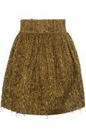 Suno Mustard Lurex Mini Skirt - Lyst