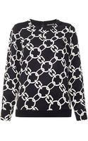 Whistles Chain Print Top - Lyst