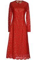 MICHAEL Michael Kors 34 Length Dress - Lyst