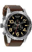 Nixon The 5130 Chrono Leather Watch 51mm - Lyst