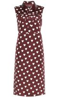 Burberry Prorsum Heart Print Silk Dress - Lyst