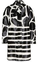Burberry Prorsum Animalprint Calf Hair Coat - Lyst