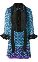Anna Sui Ying Yang Border Print Dress in Violet Multi - Lyst