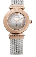 Charriol Alexandre C Large Round Pink Gold Plated Steel Watch 36mm - Lyst