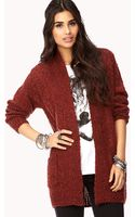Forever 21 Marled Open Front Cardigan - Lyst