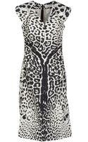 Yves Saint Laurent Rive Gauche Kneelength Dress - Lyst