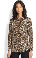 Equipment Signature Silk Leopardprint Shirt - Lyst