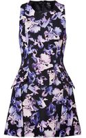 McQ by Alexander McQueen Irisblackmulti Printed Cotton Blend Dress - Lyst