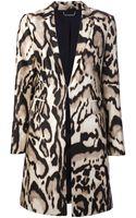 Diane Von Furstenberg Mahala Leopard Print Coat - Lyst