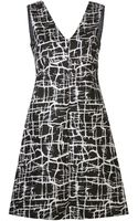 Marni Cracked Ice Print Dress - Lyst
