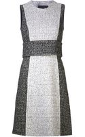 Proenza Schouler Belted Tweed Dress - Lyst