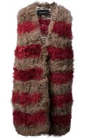 Thakoon Striped Fur Gilet - Lyst