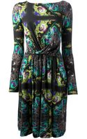 Etro Printed Long Sleeve Dress - Lyst