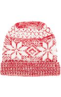 Golden Goose Deluxe Brand Patterned Beanie - Lyst