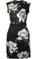 Lanvin Sleeveless Printed Dress - Lyst