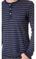 Splendid Stripe Thermal Long Shirt - Lyst