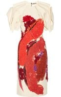 Bottega Veneta Appliquéd Stretch Woolblend Dress - Lyst