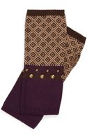 Echo Geo Studded Fingerless Gloves - Lyst