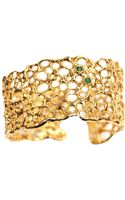 La Corza By Sabo Designs Aspen Cuff with Two Emeralds - Lyst
