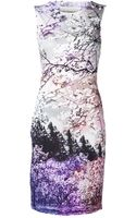 Mary Katrantzou Tree Graphic Dress - Lyst