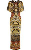 Just Cavalli Mandala Stretch Satin Jersey Gown - Lyst